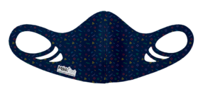 Kids Antimicrobial Spacer Face Mask - Confetti Navy